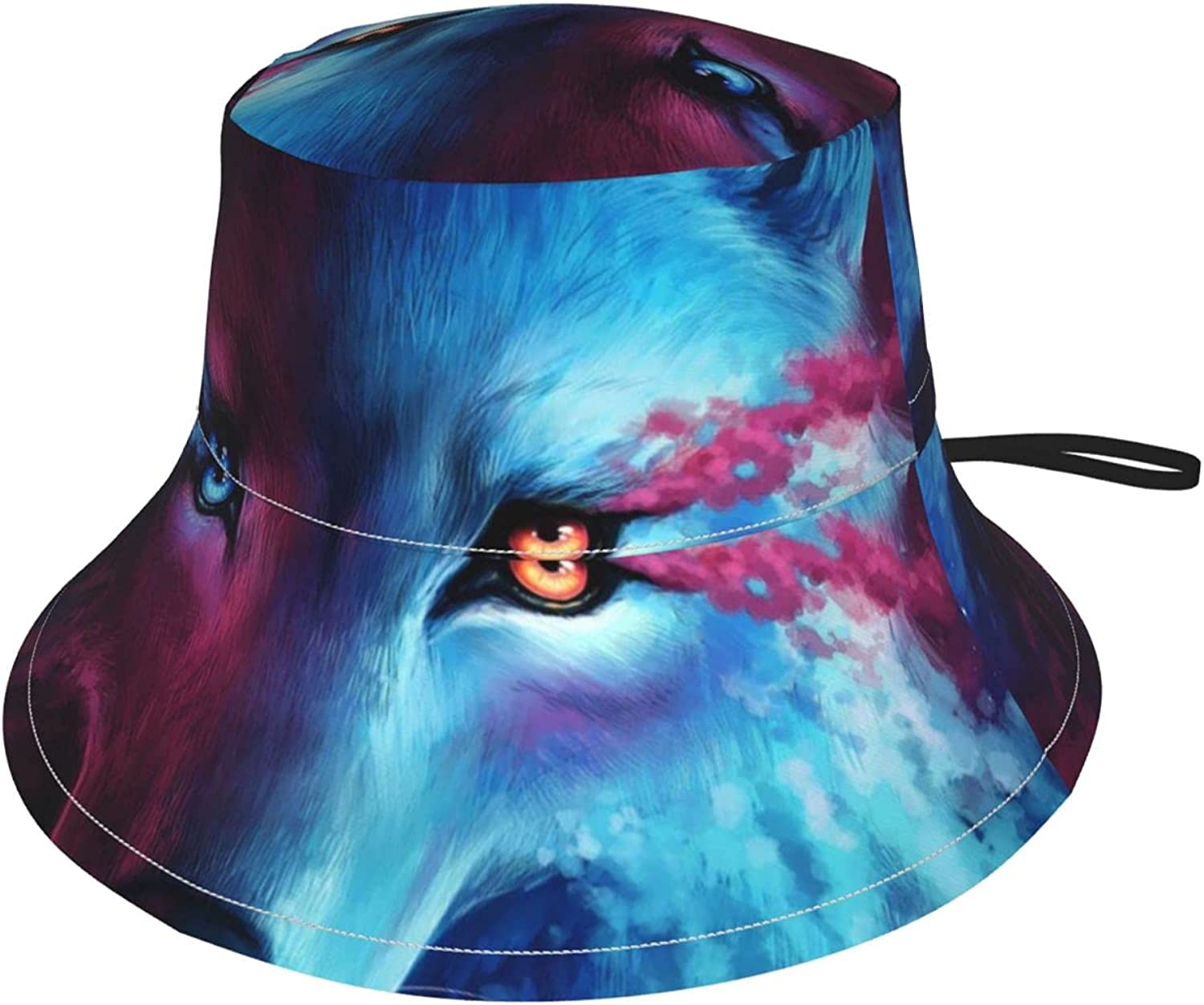 Blue Cool Wolf Moon Kids Hats Protection Beach Boys Long Beach Mall Popular products Hat Sun
