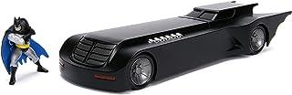 "DC Comics 1:24 Batman Animated Series Batmobile Die-cast Car with 2.75"" Batman Figure, Toys for Kids and Adults"