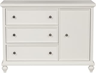 Urbangreen English Country 3 Drawer Chest with Door in Walnut, Bleach Finish