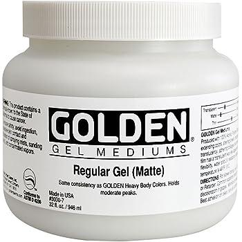 Golden Acryl Med 32 Oz Regular Gel Matte