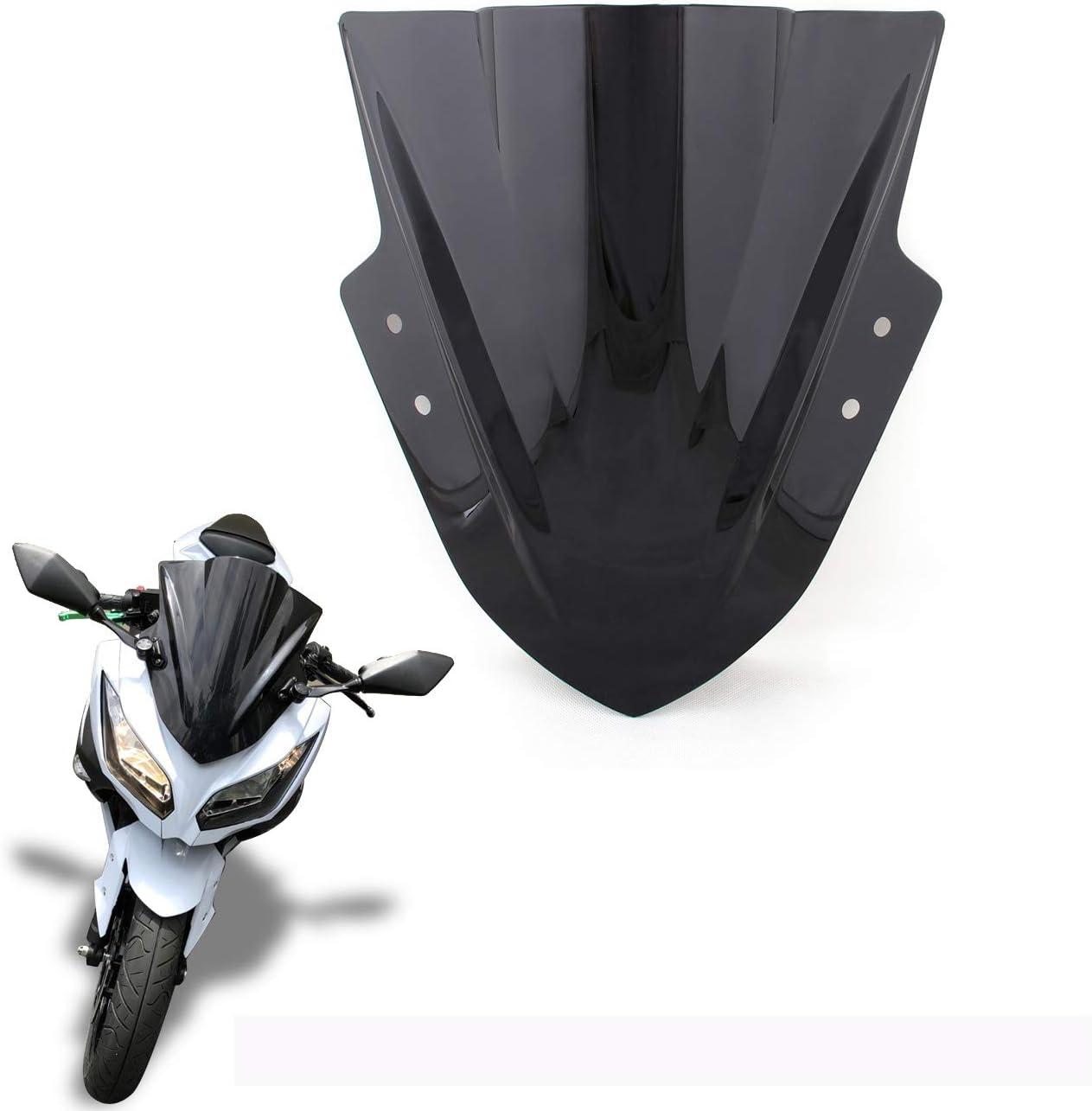 Motocicleta Delantero Parabrisas con Soportes Deflector de Viento Windshield para KAWASA-KI Ninja 1000 Z1000SX 2017-2019 Artudatech Moto Parabrisas