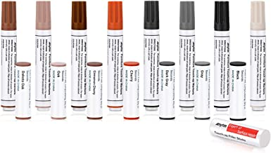 Anytin Furniture Markers Touch up - with Light Oak and Light Cherry, Set of 16, 8 Markers and 8 Wax Sticks, Hardwood Floor Scratch Remover Concealer, Laminate Repair Kit, Stain Pens for Wood