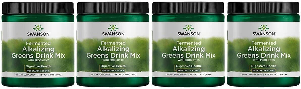 Swanson National products Fermented Alkalizing Ranking TOP16 Greens Drink g Mix 7.4 Ounce 210