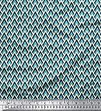 Soimoi Dekorative Geometric Print 44 Zoll breit und Meter