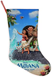BULAGEGE Mo-ana Personalized Christmas Hanging Stockings Bag Socks Christmas Tree Decoration Custom Gifts Christmas Ornament Socks