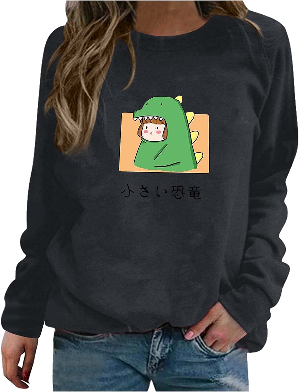 felworsSweatshirtsforWomen,WomensCutePrintedLightweightSweatshirtTopsLongSleeveCasualPulloverSweaters