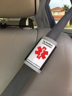 MediPal Seatbelt ID- Alerts Emergency Staff to Patient's Medical Health Condition for Those with Autism, Diabetes, Alzheimer's, Stroke, Arthritis, Asthma, Allergies, on Multiple meds