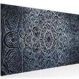 Bilder Mandala Abstrakt Wandbild 200 x 80 cm Vlies - Leinwand Bild XXL Format Wandbilder Wohnzimmer Wohnung Deko Kunstdrucke Blau