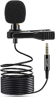 VoJoPi Microfono Solapa, Omnidireccional Lavalier Micrófono de Condensador, Microfono Movil para Podcast/Grabación Entrevi...