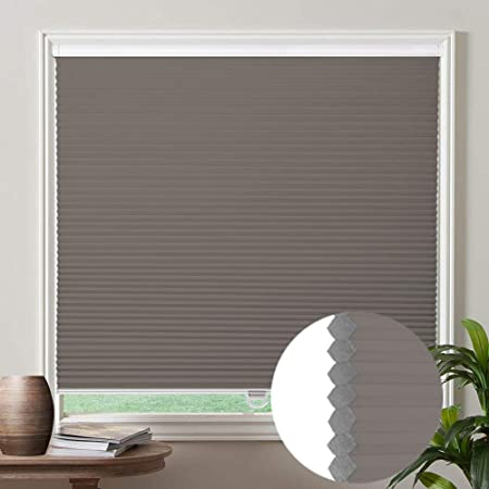 DEZ Furnishings QCWT230480 Cordless Light Filtering Cellular Shade 23W x 48H Inches White