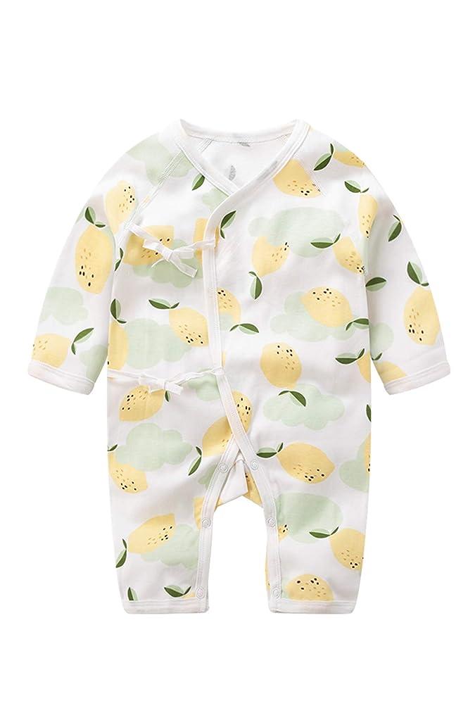Babuleyuan Unisex Baby Kimono Onesies Long Sleeve 100% Cotton Bodysuit …