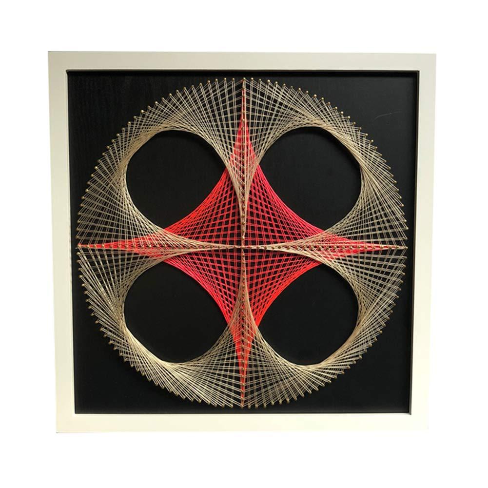 String Art Pattern Craft Kit for Adults Geometric Decor Hanging Wall Art Bonarty DIY String Art Kit DIY Kit with Supplies Geometric String Art