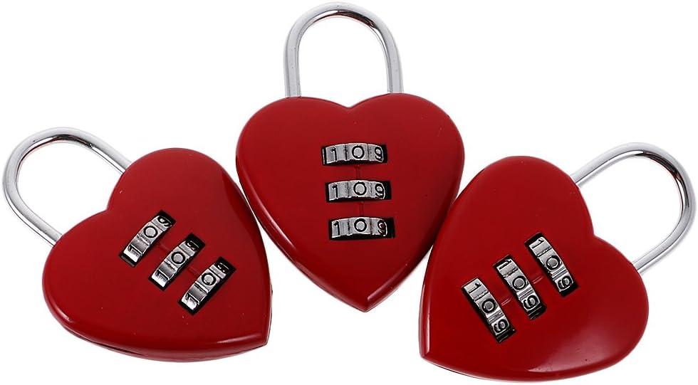 3X Love Heart Combination Outlet sale feature Lock for Travel Padlock Virginia Beach Mall Suitcas Locker