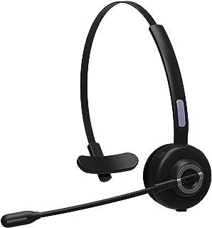 ヘッドバンドヘッドフォン Bluetoothヘッドセット5.0ビジネスコールヘッドセットコールセンターワイヤレスBluetoothヘッドセット新 マイク付きワイヤレスヘッドフォン (Color : Black)