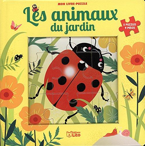 Mon livre puzzle 9 pièces: Les animaux du jardin - Dès 2 ans