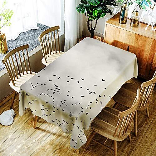 XXDD Mantel de Loto 3D Fondo Puro Flor de Diente de león y patrón de niña Cubierta de Mantel Impermeable y a Prueba de Polvo A3 135x180cm