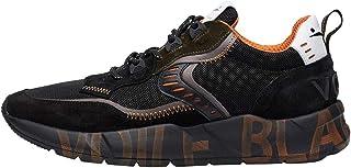 VOILE BLANCHE Sneakers Club01 Nero Pelle Uomo