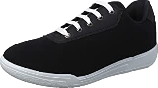 Salerno Textile Leather-accent Contrast-Lace Fashion Sneakers For Men