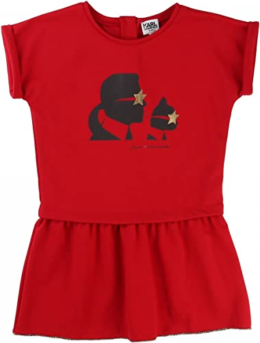 Karl Lagerfeld - Robe Manches Courtes Rouge - 12 Ans, Rouge