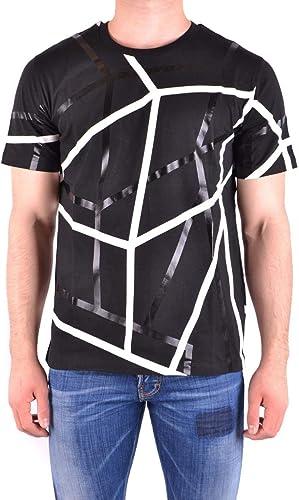 LES HOMMES Homme URE800PUE806A9001 Noir Coton T-Shirt