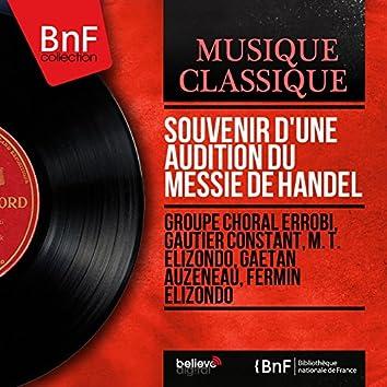 Souvenir d'une audition du Messie de Handel (Mono Version)