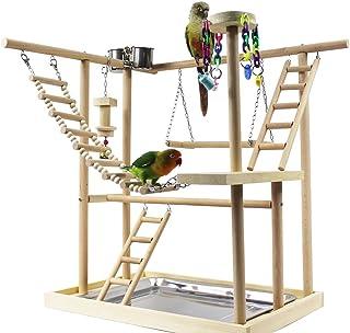 KAMA BRIDAL 鳥遊び場 インコ ハムスター カゴ ケージ スタンド はしご 遊園地 秋千 食器 水器 ラダー ベル アクリル 噛む玩具 鳥の巣 鳥栖 組み合わせ 支え 棚 台 原木