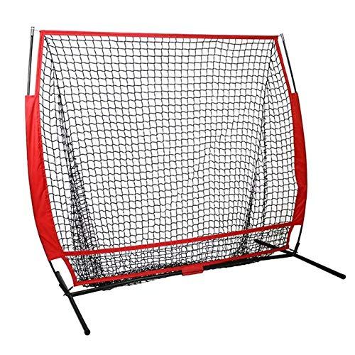 BTTNW Rete Pratica di Battuta Softball Baseball Practice Net with Frame Colpire Pitching Batting Catching Backstop Attrezzature per la Formazione di Allenamento Adatto per Pratica di Battuta