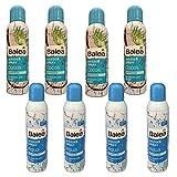Balea Aqua & COCOS - Spray ad acqua, 8 flaconi da 150 ml 4 x spray ad acqua Balea Aqua. 4 X Balea spray acqua Cocos Ideale in estate. Per viso e corpo, sport e tempo libero.