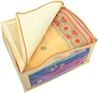 Bhaiji Enterprises Saree Cover - Pack of 6 (Golden Color, Extra Large)