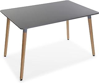 Versa Meera Table à Manger pour Cuisine, Terrasse, Jardin ou Salle à Manger, Dimensions (H x l x L) 73 x 80 x 120 cm, Boi...
