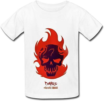 KidsホワイトBig Boys ' Girls ' TシャツSuicide Squadディアブロファンロゴ