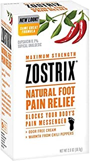 Sponsored Ad - Zostrix Maximum Strength Foot Pain Relief Topical Analgesic Cream, Fast Acting Capsaicin Pain Reliever, Odo...
