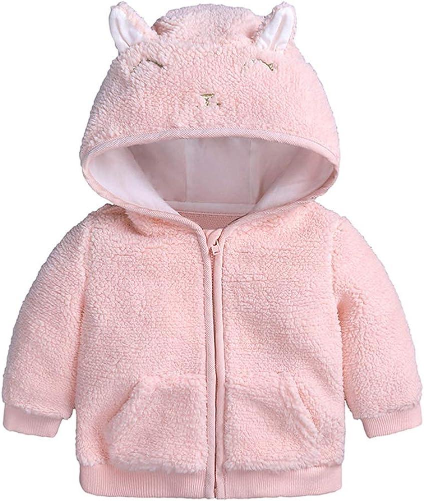 Toddler Baby Girls Boys Fleece Hoodie Coat Jacket Cu 100% quality warranty! Winter Sale Warm