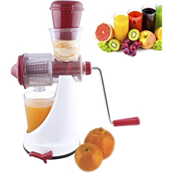 Ashoka's Mart Hand Juicer for Fruits and Vegetables with Steel Handle Vacuum Locking System,Shake, Smoothies,Fruit Juicer for All Fruits, Juice Maker Machine (Multi)