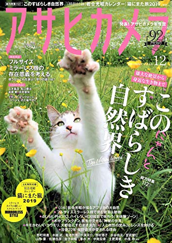 アサヒカメラ 2018年 12 月号【特別付録】岩合光昭カレンダー『猫にまた旅2019』 [雑誌]