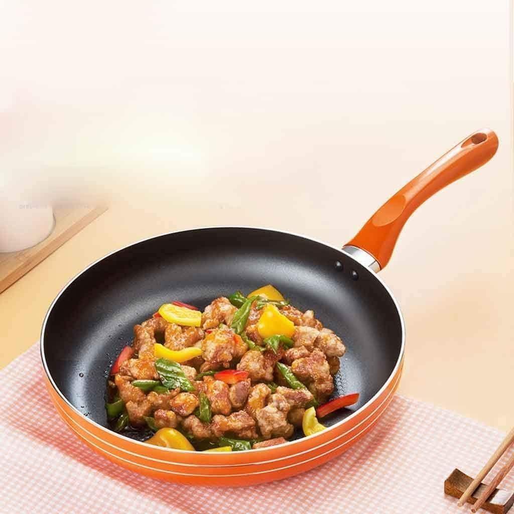 XUHRA 24Cm Pan, Crêpes Maison Crêpes Omelette Bifteck Cuisinière À Gaz Cuisinière,Orange,26Cm Orange