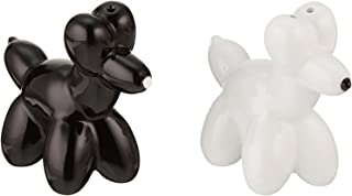 American Atelier Dogs and White Salt and Pepper Shakers, Black