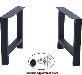 "MBQQ 2 Pcs Furniture Legs Rustic Decory H Shape Table Legs,Heavy Duty Metal Desk Legs,Dining Table Legs,Industrial Modern, DIY Cast Iron Bench Legs(H15.7""xW17.7"")"