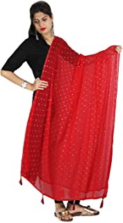 Ethnic Scarf Chunni Stole Golden Dotted Dupatta Sarong With Tassel Neck Wrap Hijab Veil Shawl For Her