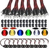 GTIWUNG 60 x Luces LED de Diodo 12V DC Pre Wired LED Diodos Emisores de Luz Lámpara, con Cables de 20cm + 60 x 5mm...
