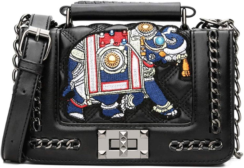 RXF Stickerei Linie Elephant Woman Handtasche im Freien Freien Freien Schulter Messenger Bag (Farbe   1, größe   S) B07HY653J3  Exportieren a5c575