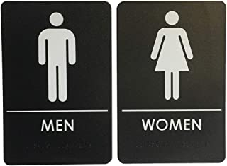 Men's and Women's Restroom Signs ADA-Compliant Bathroom Door Signs for Offices, Businesses, and Restaurants, Made in USA