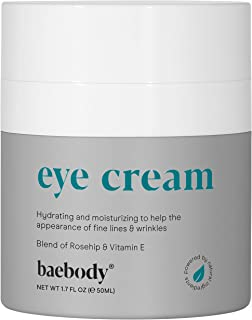 Baebody Eye Cream Rosehip Hibiscus for Appearance of Fine Lines, Wrinkles, Dark Circles, and Bags - Intensive Anti-Aging C...