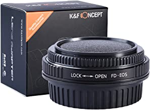 K&F Concept Pro Lens Mount Adapter for Canon FD FL Lens to Canon EOS Camera, for Canon 1D, 1DS, Mark II, III, IV, Digital Rebel T5i, T4i, T3i, T3