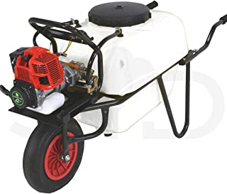 Carretilla 100l para fumigar. Motor 2 tiempos 30bar 10ltr. Bomba de 2 pistones de acero con cabeza cerámica.