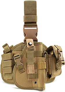 ESA Supplies Molle Airsoft Holster with Magzine Pouch Drop Leg Holsters Tactical Thigh Holsters for Glorck G17 G18 G19 G26 G34 M1911