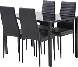 FDW Dining Table Set Dining Table Dining Room Table Set for Small Spaces Kitchen Table and Chairs for 4 Table with Chairs ...