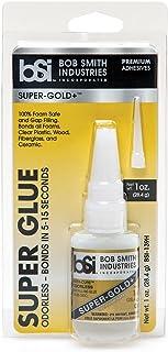 Bob Smith Industries BSI-139H Clear Super-Gold Odorless Foam Safe Super Glue, 1 oz.