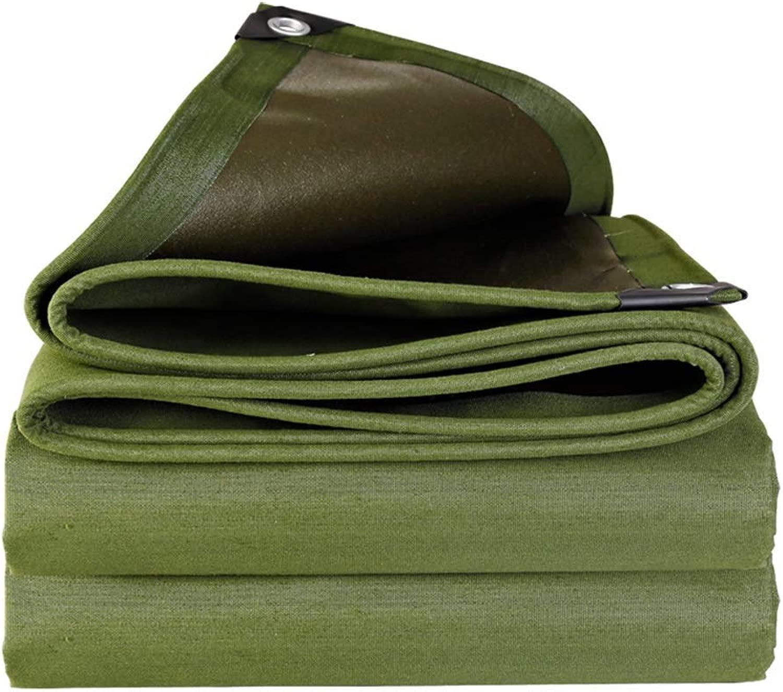 Ma DONG 片面コーティング防水厚い耐摩耗性防水布防水日焼け止め防水シート防水シートバイザー屋外断熱テント、グリーン、17サイズ YDタープ防水シート (Size : 4mX6m)