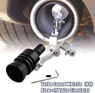 Ruien Blow-Off Valve Simulator Aluminum Turbo Sound Whistle Exhaust Pipe Tailpipe BOV (XL)